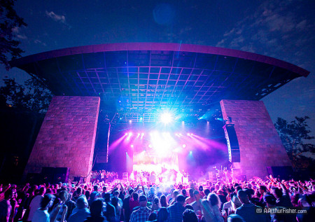 Santa Barbara Bowl Pavilion during a reggae concert
